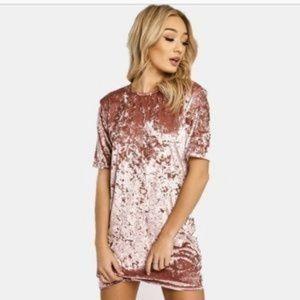 Windsor Taupe/Tan Mini Velvet Dress